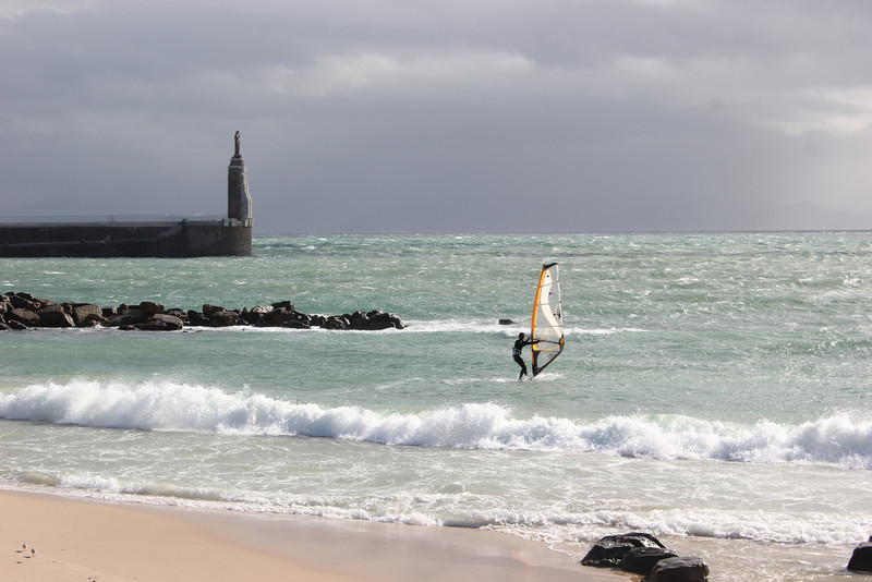 windsurfer on the ocean