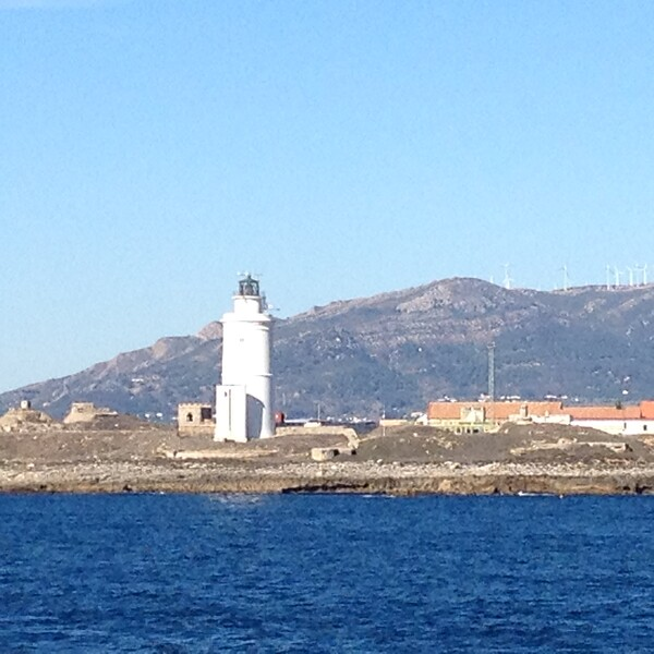 lighthouse on the coast of Tarifa, Spain