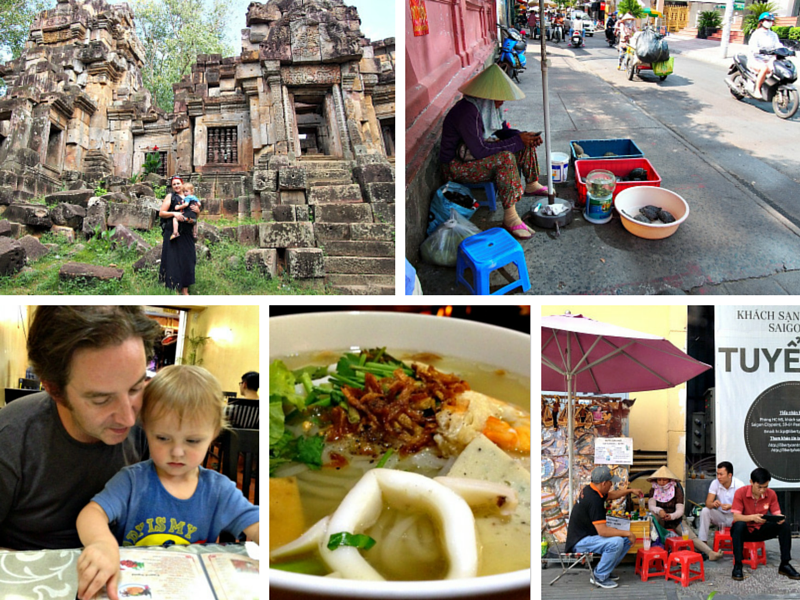 Photos from Ho Chi Minh City and Battambang, Cambodia.