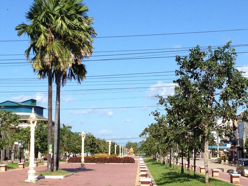 French colonial boulevard in Kampot.