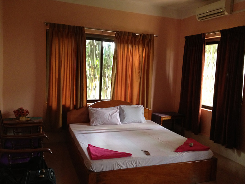 bed in Kampot Guesthouse