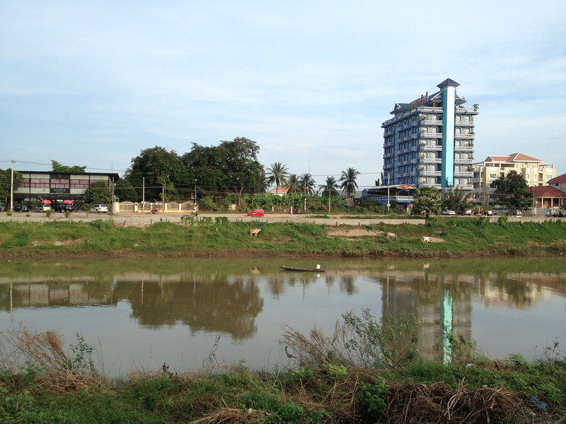 River in Battambang, Cambodia.