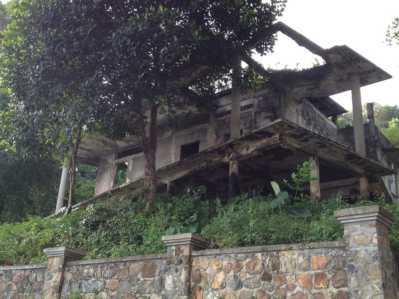 Ruins of a colonial villa in Kep, Cambodia.